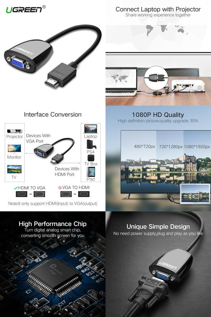 Visit to Buy  Ugreen HDMI to    VGA    Connector HDMI    VGA    Audio