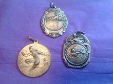 Vintage Lot of Three Art Deco Medals..