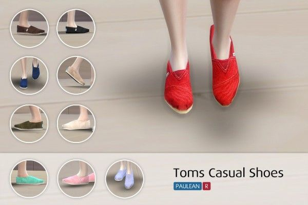 Paluean R Sims: Toms Casual Shoes • Sims 4 Downloads