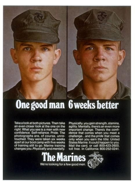 One Good Man, 6 Weeks Better by United States Marine Corps Official Page, via Flickr