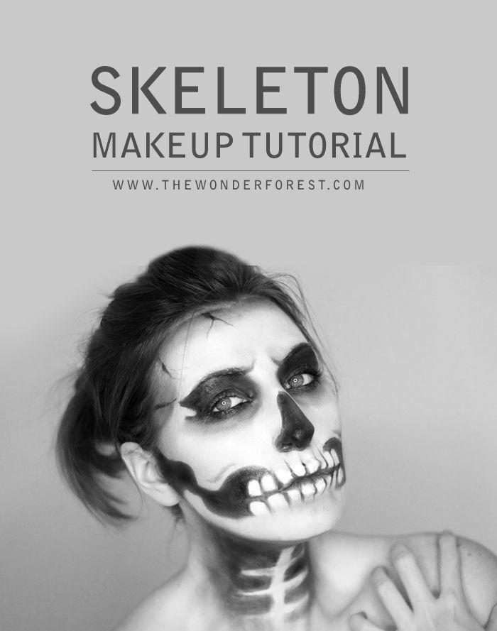 Skeleton / Skull Makeup Tutorial for Halloween | Wonder Forest: Design Your Life.