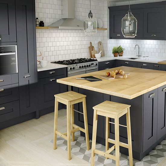 Adding drama to a kitchen, black is an increasingly popular choice for kitchen cabinetry. For those looking to make a more subtle style statement, Second Nature has the answer. The company's new Milbourne Charcoal Shaker design offers a softer take on the trend that blends beautifully with other materials and finishes.