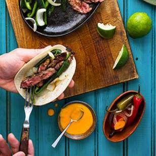 South Texas Steak Fajitas Recipe-- marinade for the meat sounds good