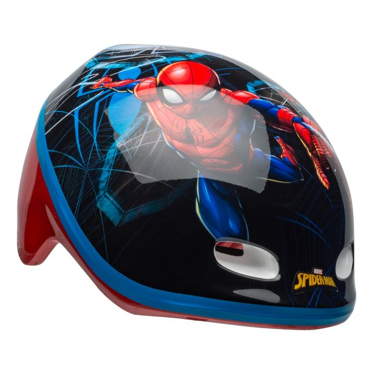 Marvel Spider Man Kidsu0027 Helmet   3+, Red/Black
