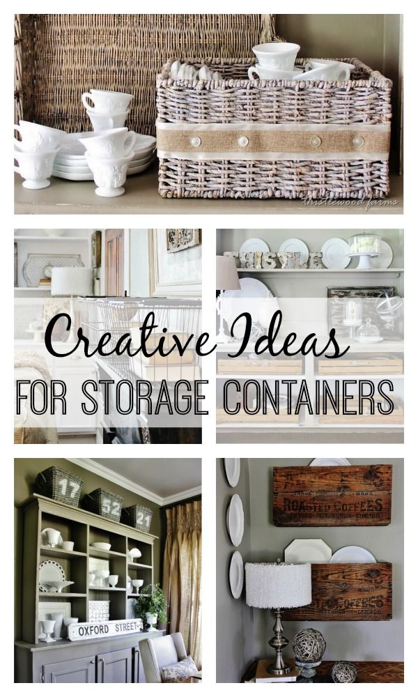 Creative Ideas for Storage Containers