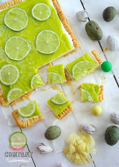Lime and Coconut tart traditional Polish Mazurek, Easter cake idea