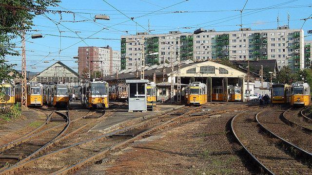 Budapest Tram depot