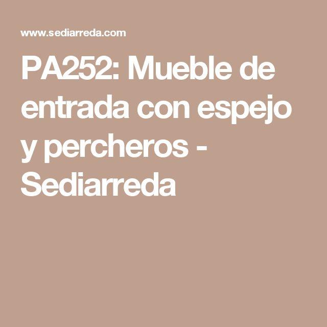 PA252: Mueble de entrada con espejo y percheros - Sediarreda