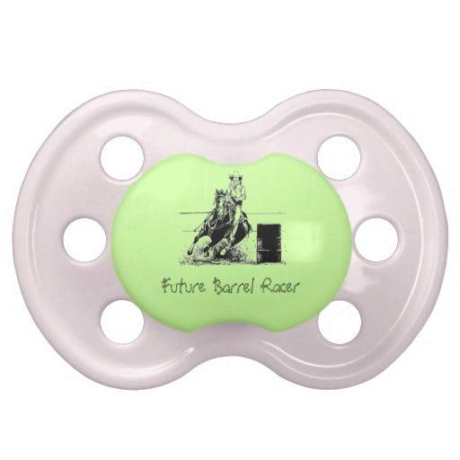 Future Barrel Racer Baby Pacifier