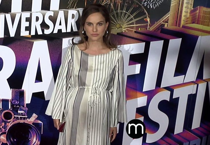 Natalie Portman pregnant at the 30th anniversary of the Israel Film Festival