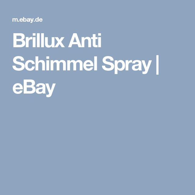 Brillux Anti Schimmel Spray  | eBay