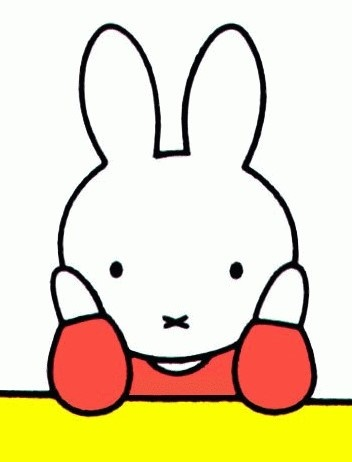 """No I didn't call you"" said Miffy. ""Go back to where you came from."""