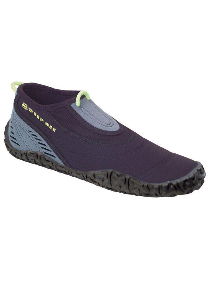 Skechers Womens Brown Leather Neoprene Water Aqua Shoes Sz 10