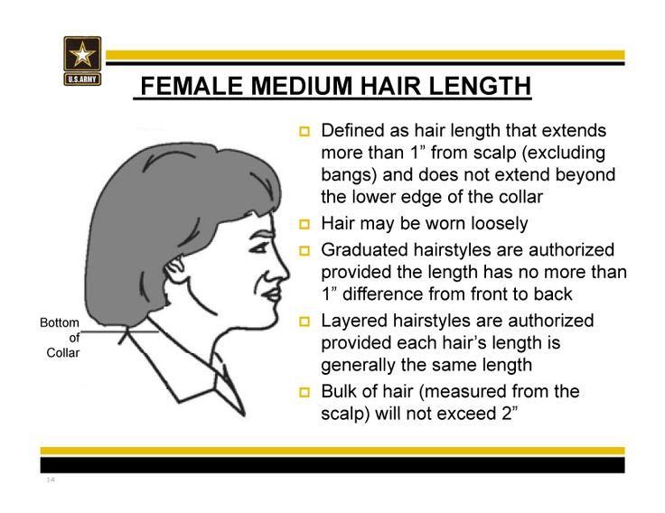 New Army hair regulations - AR 670-1 as of 31 March 2014 #mediumlength #hair
