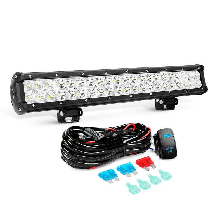 20 inch light bar 25 pinterest jeep 20 inch 126w combo led light bar 12v 5pin rocker switch led light bar wiring harness kit 2 years warranty mozeypictures Image collections