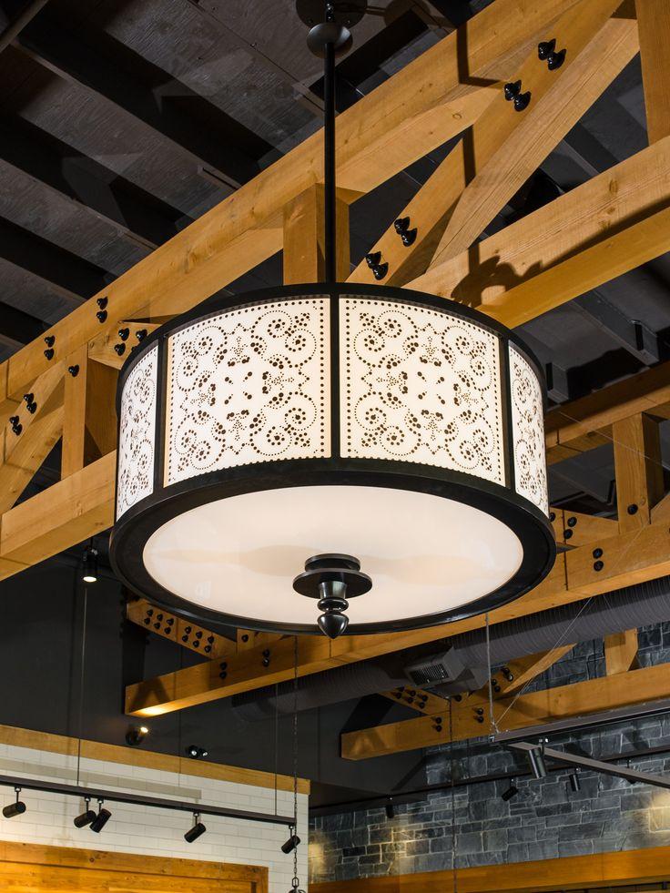 Custom chandelier for Frankie's Italian Kitchen and Bar developed and manufactured by Karice Enterprises Ltd. Photo ©Karice Enterprises