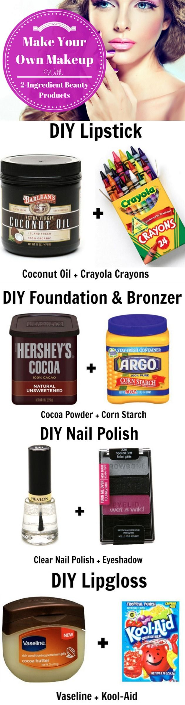 Make Your Own Makeup with only two ingredients!: