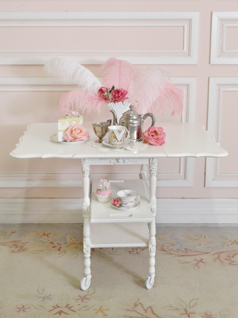 French style tea cart - sides drop down.