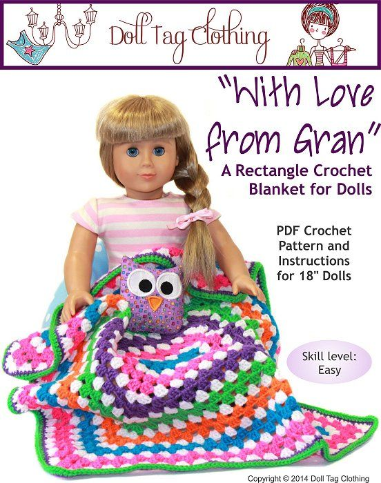 Crochet Pattern For Doll Blanket : 17 Best images about Crochet on Pinterest Free pattern ...