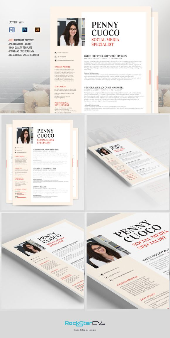 165 Best Resume Templates Images On Pinterest | Resume Cv, Cv