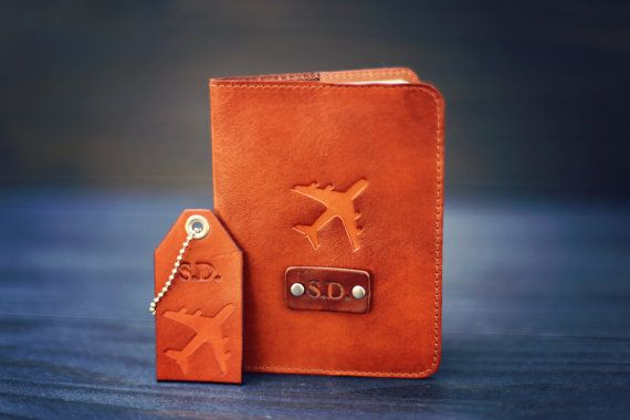 A set of Personalized real Leather Passport by RSVPhandcrafted
