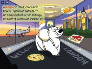 This is a funny story about Snowpo the polar bear cub who arrives in London searching for food.