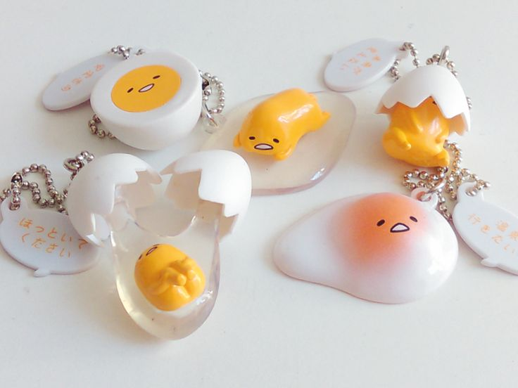 Sanrio character Gudetama: a lazy, adorable egg yolk with a butt