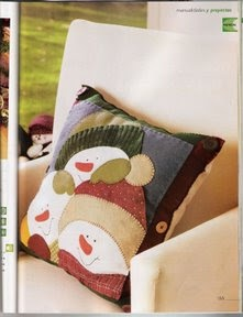 My Home Sweet Home free Snowman Pillow pattern - lovely site!