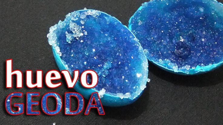 Huevo Geoda (Hacer cristales en un huevo)