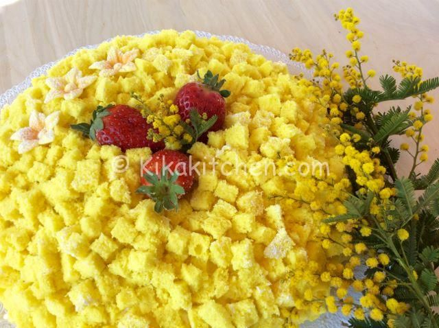 Torta mimosa con crema diplomatica   Kikakitchen