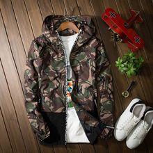 2016 Nueva Marca de Alta Calidad de Camuflaje Nuevos Hombres Impermeable y Transpirable Hombres Outwear Rompevientos Hombres Chaqueta de Primavera Más El Tamaño S-XXXL(China (Mainland))