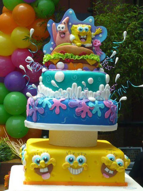 108 best Cakes SpongeBob images on Pinterest Spongebob
