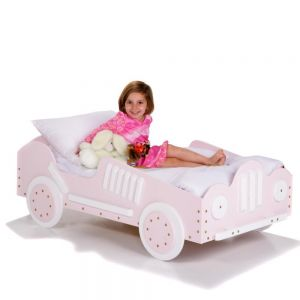 Car Beds for Toddlers - Pink Racecar. These pink car beds for toddlers are built for high speed play and a fun bedtime! Your little racer will race to get to sleep in her new big girl bed! These beds feature all wood construction and are hand crafted from imported laminate and other solid woods. They fit a standard crib mattress. Kids' safety is our priority, so all of our products are sturdy and kid-approved!  This bed has been carefully designed to make it easy to get into but …