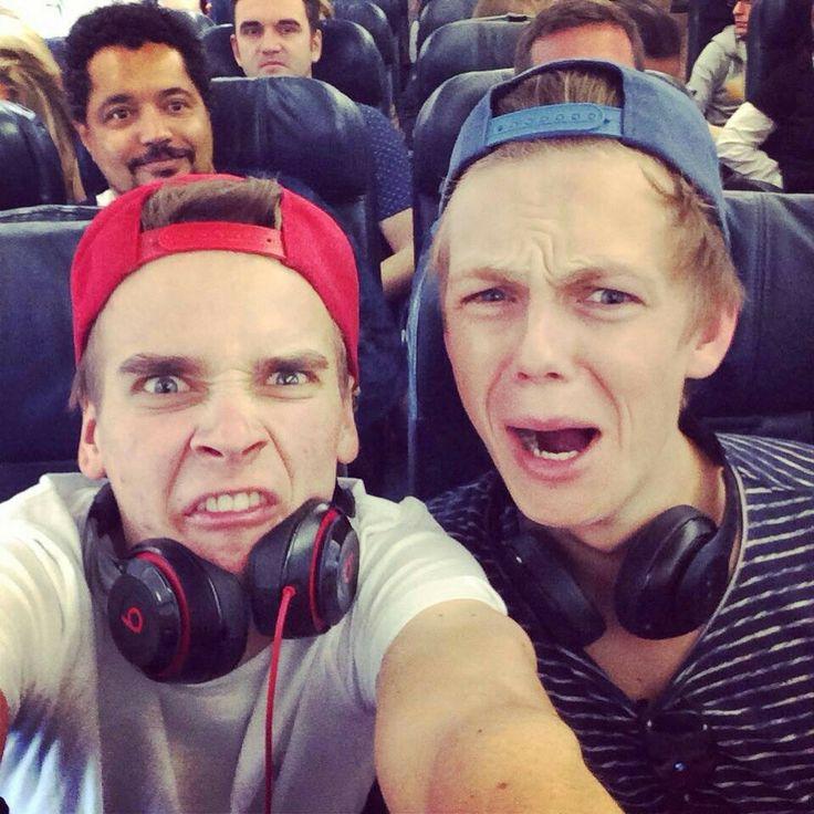 Youtubers Joe Sugg, Caspar Lee