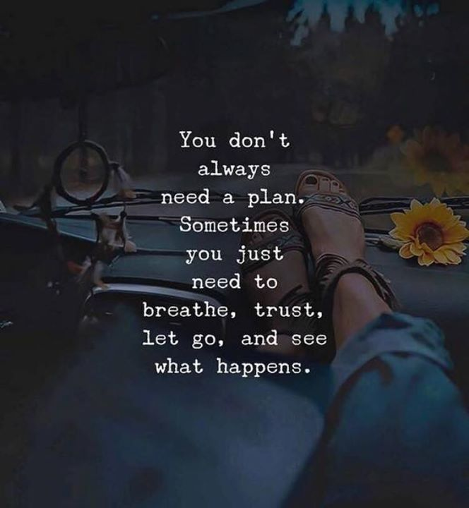 You dont always need a plan..
