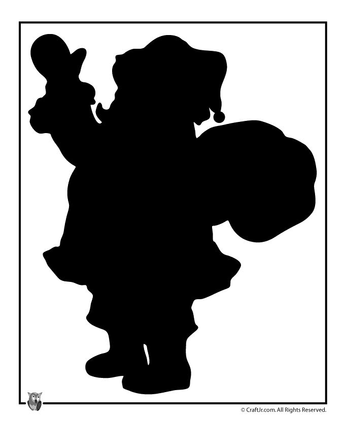 Printable Christmas Templates, Shapes and Silhouettes Santa Claus Silhouette Template – Craft Jr.