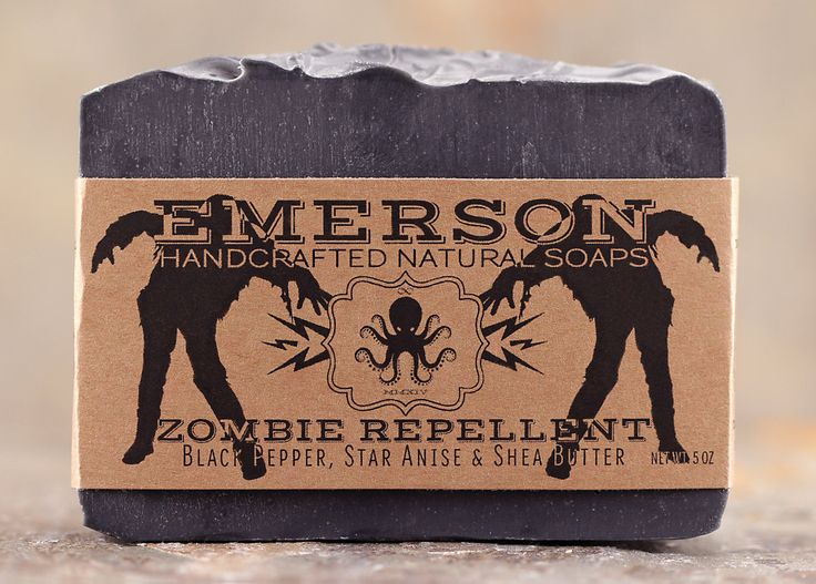 Zombie Repellent Halloween Soap with Black Pepper & Anise • Palm Free Soap, All Natural Soap, Vegan Soap, Cold Process Soap, Charcoal Soap by EmersonSoaps on Etsy https://www.etsy.com/uk/listing/248528600/zombie-repellent-halloween-soap-with