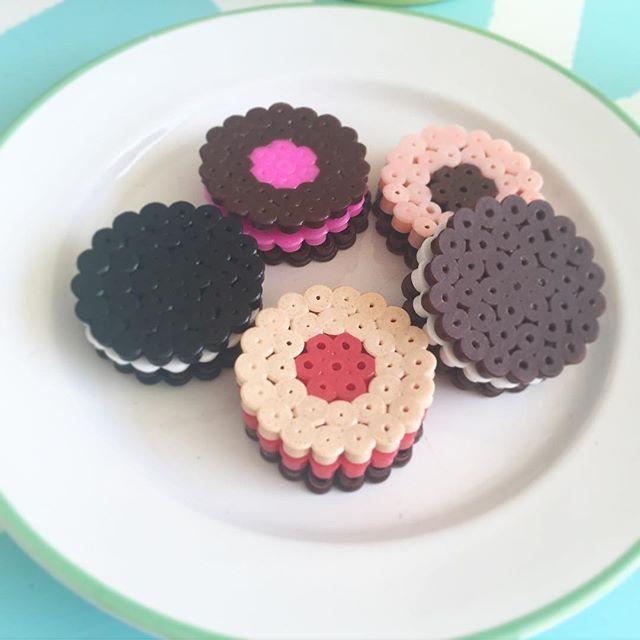 3D cookies hama beads by retrofroken