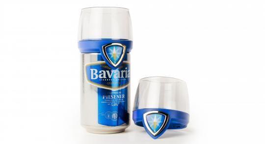 Bavaria komt met 'blikglas': bierblikje als glas | Marketing online