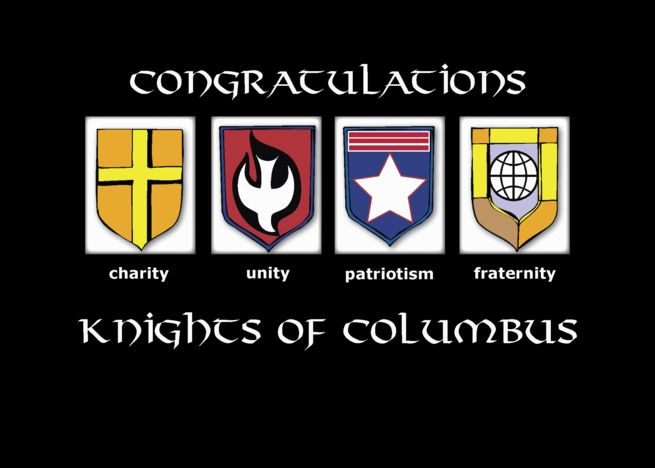 Congratulations Induction To The Knights Of Columbus Black Shields Card Ad Ad Knights Induction Congratulations Columbus