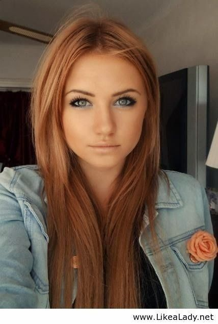 Trending new hair color: strawberry blonde (like how this is not so metallic)