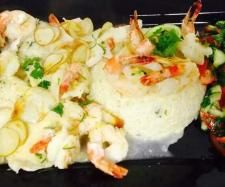 Recipe Chilli & Kaffir Fish and Prawns with Coconut Lime Rice by Piggy Delights - Recipe of category Main dishes - fish