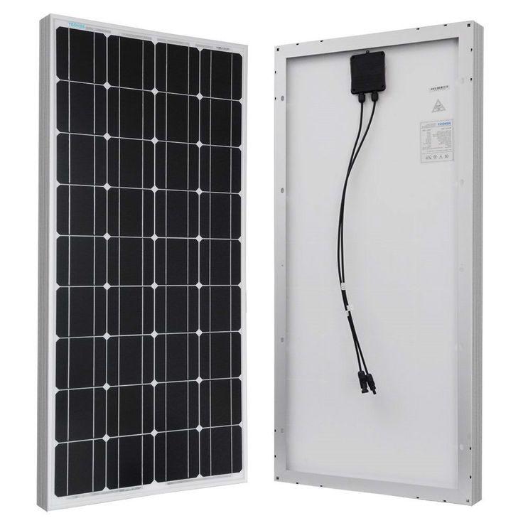 100 Watt Solar Panel Great for 12-Volt Battery Charging RV Camping Off