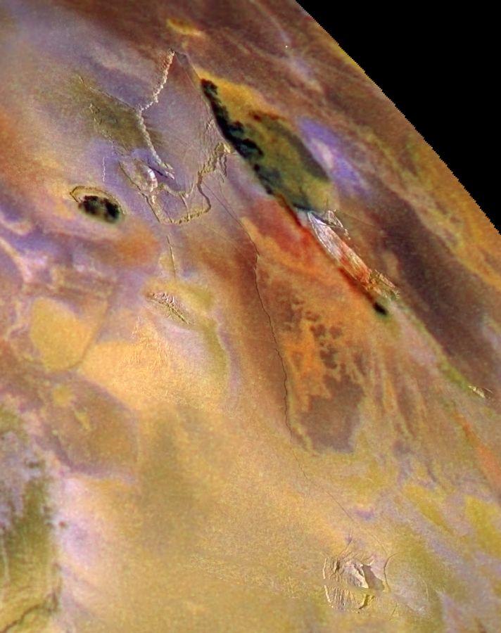Zal Patera, Io, in color (NASA Galileo Jupiter Mission Image)
