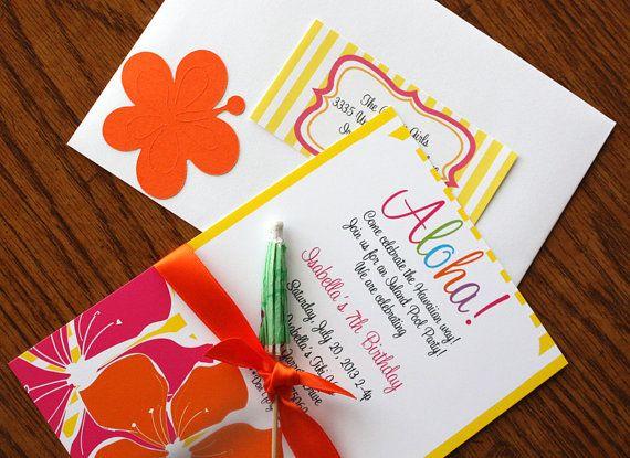Hawaiian Luau Einladung, Luau Party, Luau Einladung, Hawaiian Luau Party,  Hawaii Party