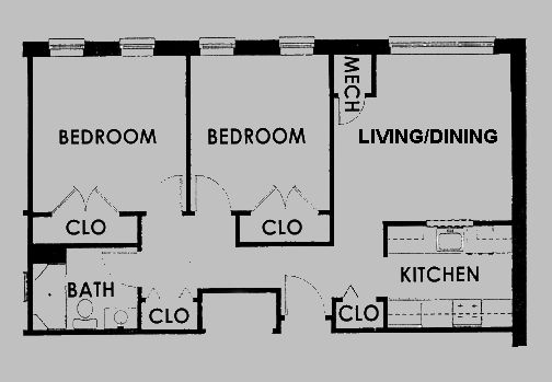 33 best images about floorplans on pinterest 1 bedroom Small 2 bedroom apartment floor plans