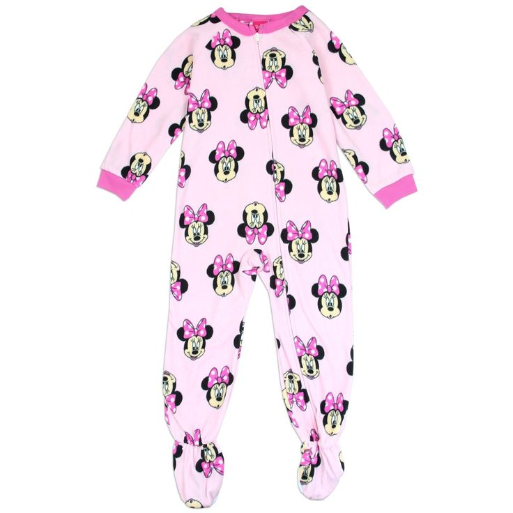 Color Pink Sizes 2T 3T 4T Made From 100% Polyester Flame Resistant Meets U.S. Consumer Product Safety Commission Requirements Brand Disney Minnie Mouse Blanket Sleeper Officially Licensed Disney Minnie Mouse Blanket Sleeper #HTownKids #FreeShipping