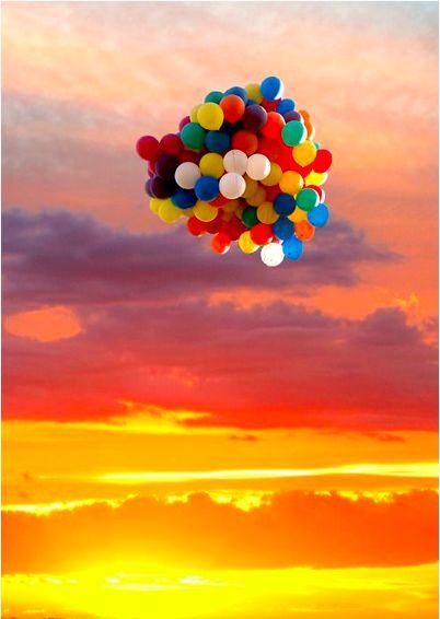 inspiring colourful balloons
