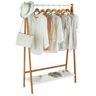 Buy Bamboo Clothes Rail with White Shelf at Argos.co.uk, visit Argos.co.uk to shop online for Hanging rails