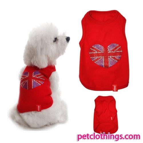 Camiseta para perrito en Royo con bandera del Reino Unido